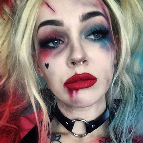hiya puddin. miss me?#harleyquinn #suicidesquad makeup details in the last few posts ❤️