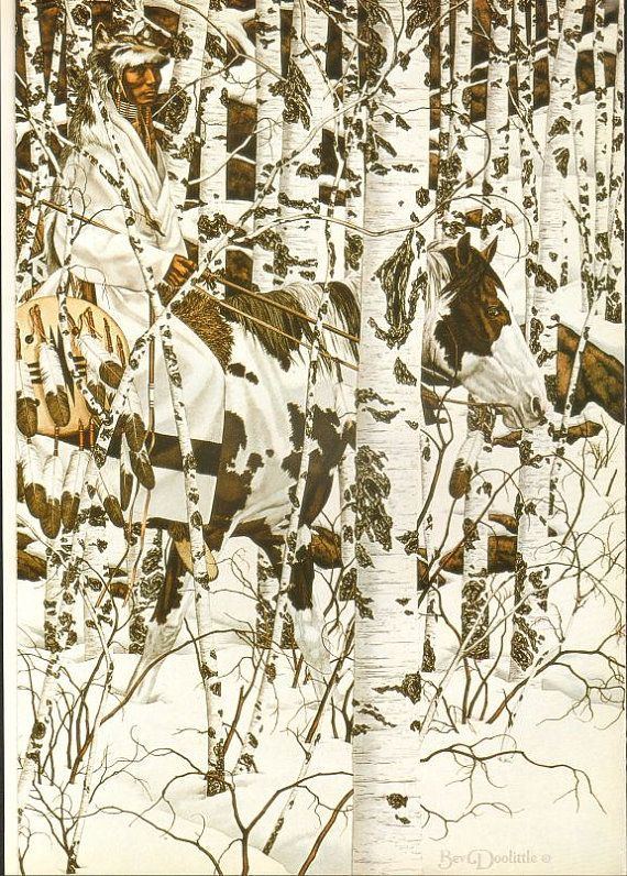 This print comes a vintage book of Bev Doolittle's artworks published in 1990. Description from etsy.com. I searched for this on bing.com/images