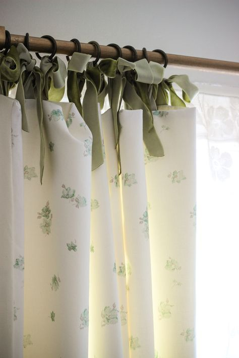 Laura Ashley Blog | MAKE and DO: JODIE'S LINED CURTAINS WITH RIBBON TIE | http://blog.lauraashley.com