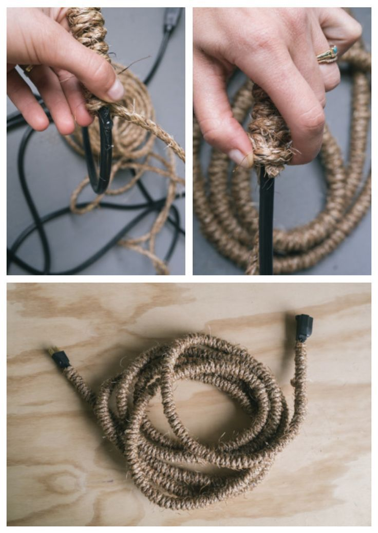 Hide That Eyesore Extension Cord By Wrapping It With Jute Cord Cover Light Cord Cover Diy
