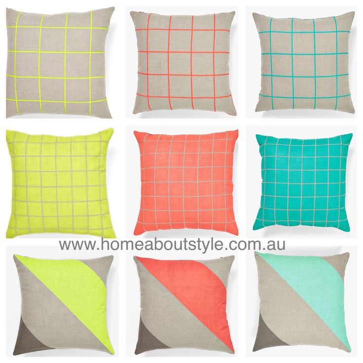 Add eye catching prints to you home with these jumbo stripe & lattice cushions!! Bright colours mixed with natural linen, these cushions will add vibrancy to your lounge room, alfresco or bedroom. $39(insert included) www.homeaboutstyle.com.au cushions @home_about_style #interiordesign #homedecor #homedecorators #homedecoratingideas #homeaccessories #cushions #pillows #aurahome #stripes #lattice #linen #brightcolours #stylish #luxury #beautifulhomes #pickoftheday #instadaily #homeaboutstyle