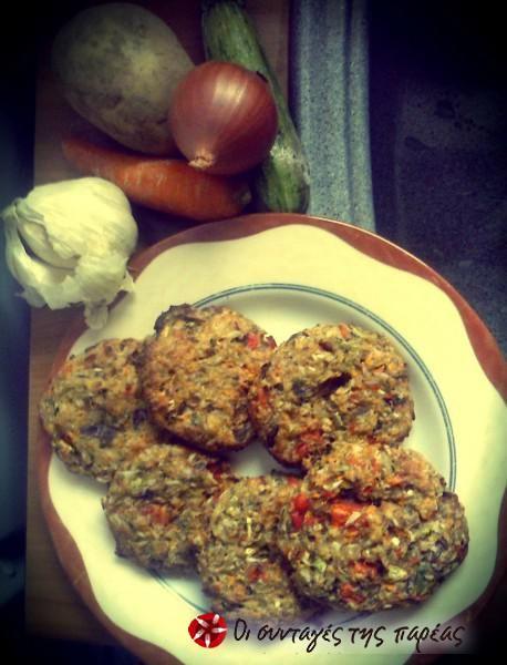 Τραγανά και αφράτα μπιφτέκια λαχανικών #sintagespareas
