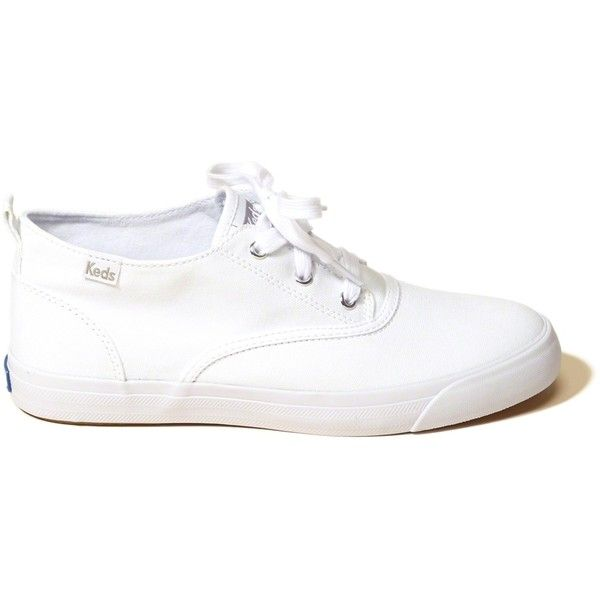 Hollister Keds Triumph Mid Canvas Sneaker (540.985 IDR) ❤ liked on Polyvore featuring shoes, sneakers, white, white eyelet shoes, eyelets shoes, white canvas sneakers, white sneakers and canvas sneakers