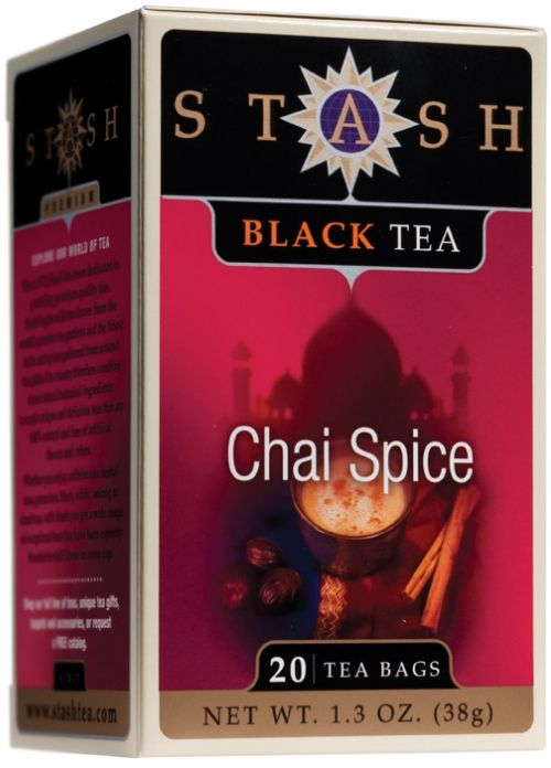 Stash Chai Spice Tea - comes in decaf too.