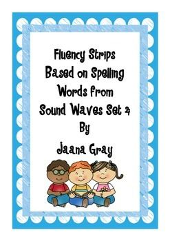 This set of Fluency Strips are great for practising fluency and spelling sounds.Spelling sounds included are:Set 29 ooSet 30 z, tionSet 31 ouSet 32 chSet 32 shSet 33 eer/earSet 33 oy/oiSet 34 thSet 35 airSet 36 erEach set include 24 sentence strips based on words from these sounds.A student instruction card is included.These are a great addition to my word/picture cards for the same sounds.Sound Waves Set 4 Word and Picture Cards