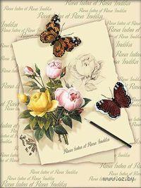 Вышивка крестом `Бабочки и розы` (арт. 0001 РТ)