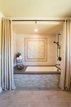 drop in tub shower curtain - Google Search                                                                                                                                                      More