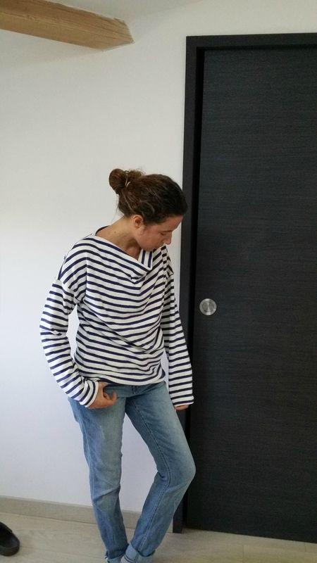 Petit haut TROP TOP, version C, patron de couture Ivanne S, by Ema family