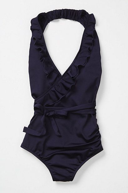 Ruffle-Wrapped Halter SuitFashion, Bathing Suits, Style, One Piece Swimsuits, Onepiece, Clothing, Summer, Bath Suits, Swimming Suits