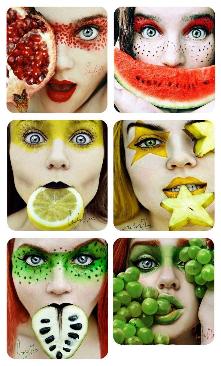 Christina Otero's Fruit Makeup