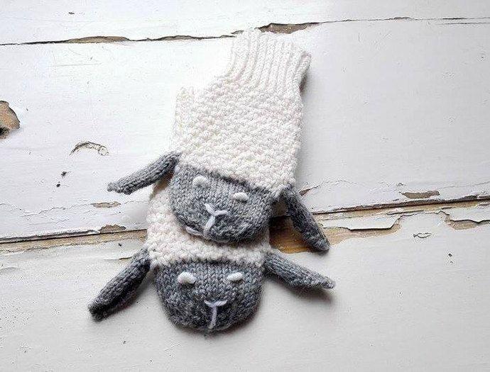 Kids Gloves/ Animals Gloves/ Sheeps Mittens/ Knitted Mittens/ Children,Toddler…