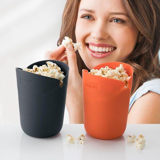 Magnetron-popcornbak, set van 2 - Zelfgemaakte popcorn, net zo knapperig als in de bioscoop.