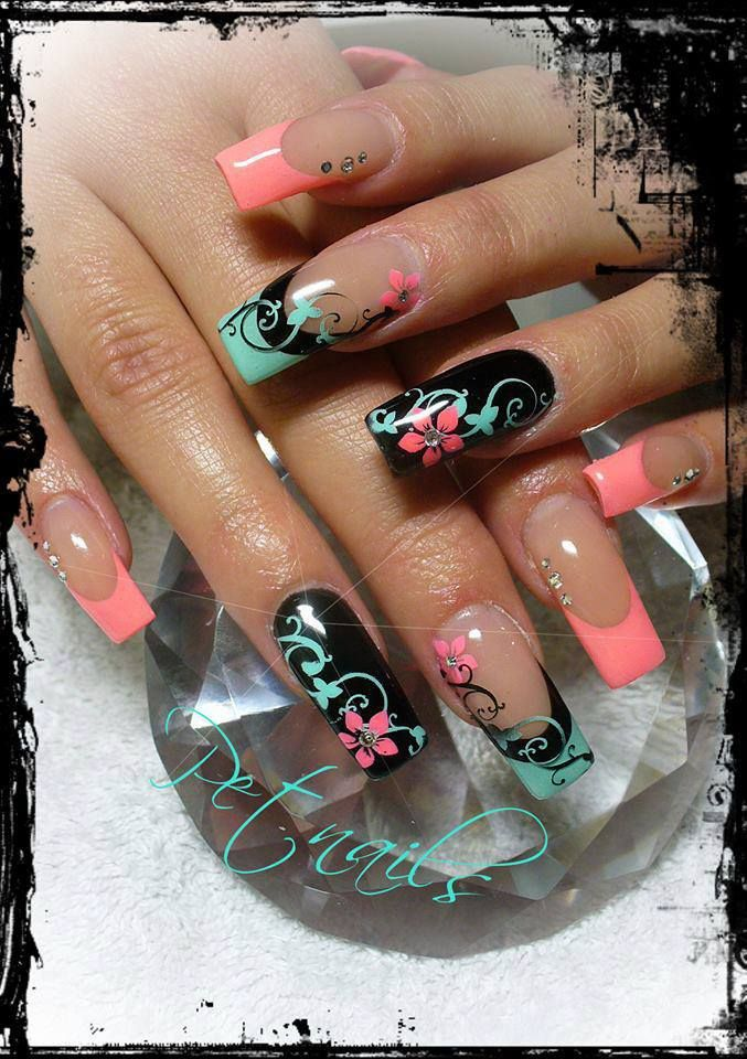 Pretty Pastel Nails with Art