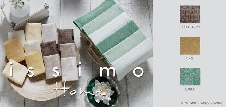 %100 Bambu'dan üretilen İssimo Home havlular evinize çok yakışacak. :)