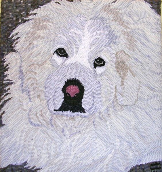 Dog Hooked Rugs: 157 Best Hooked Dogs Images On Pinterest