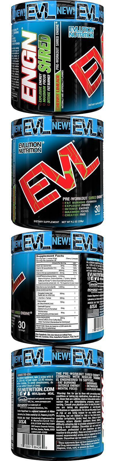 Protein Shakes and Bodybuilding: Evlution Nutrition Engn Shred Pre Workout Thermogenic Fat Burner Powder, Energy, -> BUY IT NOW ONLY: $36.67 on eBay!