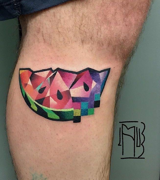 Lesha Lauz watermelon tattoo