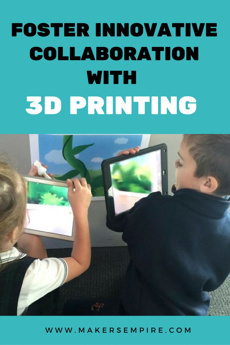 Two schools teamed up their first grade students to design and 3D print characters, write a story about the characters and then film their story using iPads! 3D printing technology supports writing, reading, creativity and collaboration!