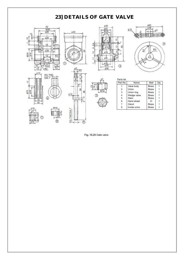 Assembly And Details Machine Drawing Pdf Mechanical Engineering
