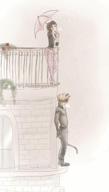 Marinette and Cat Noir