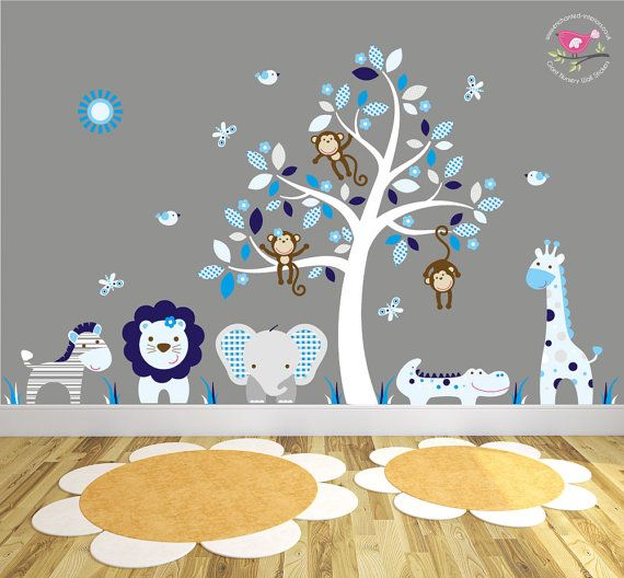 The 26 best Jungle Animal Nursery Wall Sticker - Decal Scenes images ...