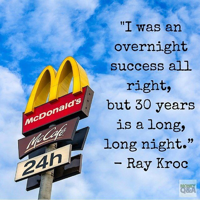 """I was an overnight success all right, but 30 years is a long, long night."""" - Ray…"""