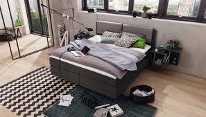 now by hulsta boxspring met hoofdkussen stof hout modern nachtkastje verlichting