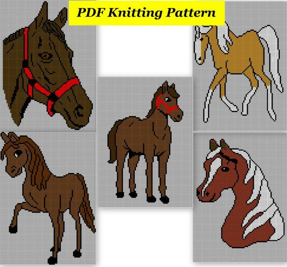 5 x Childrens & Adults Horse Jumper / by BlondiesKnitDesigns