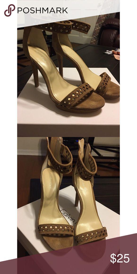 Calvin Klein Verena Sandal Verena Sandal in suede. GUC. Calvin Klein Shoes Heels