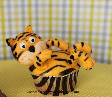tijger cupcake