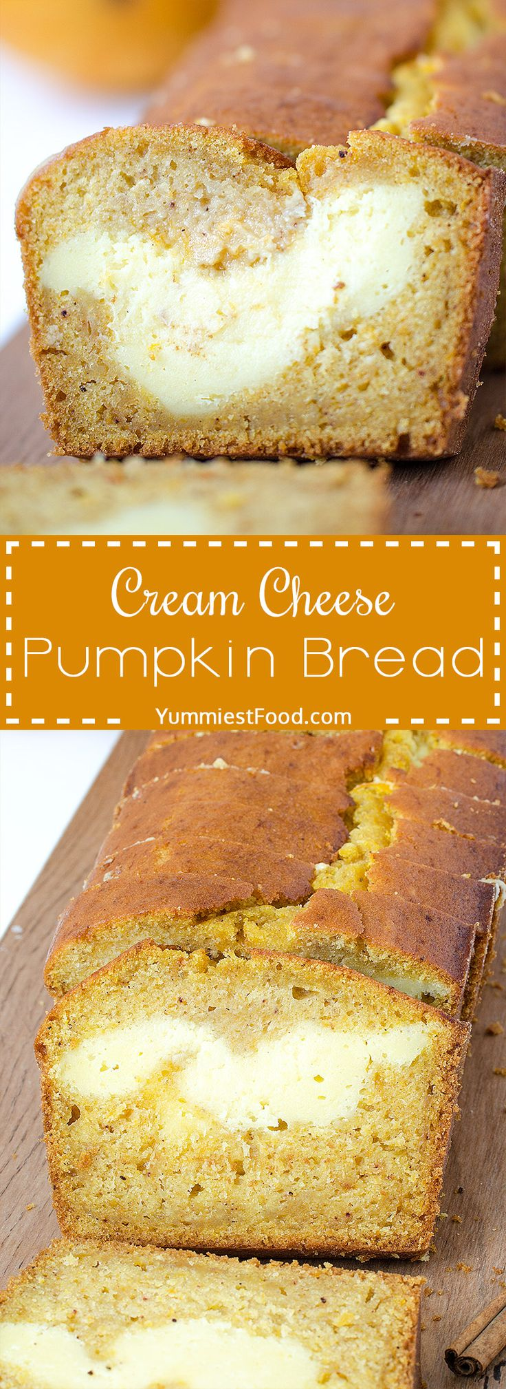Cream Cheese Pumpkin Bread - love at first bite! Perfect healthy way to start…