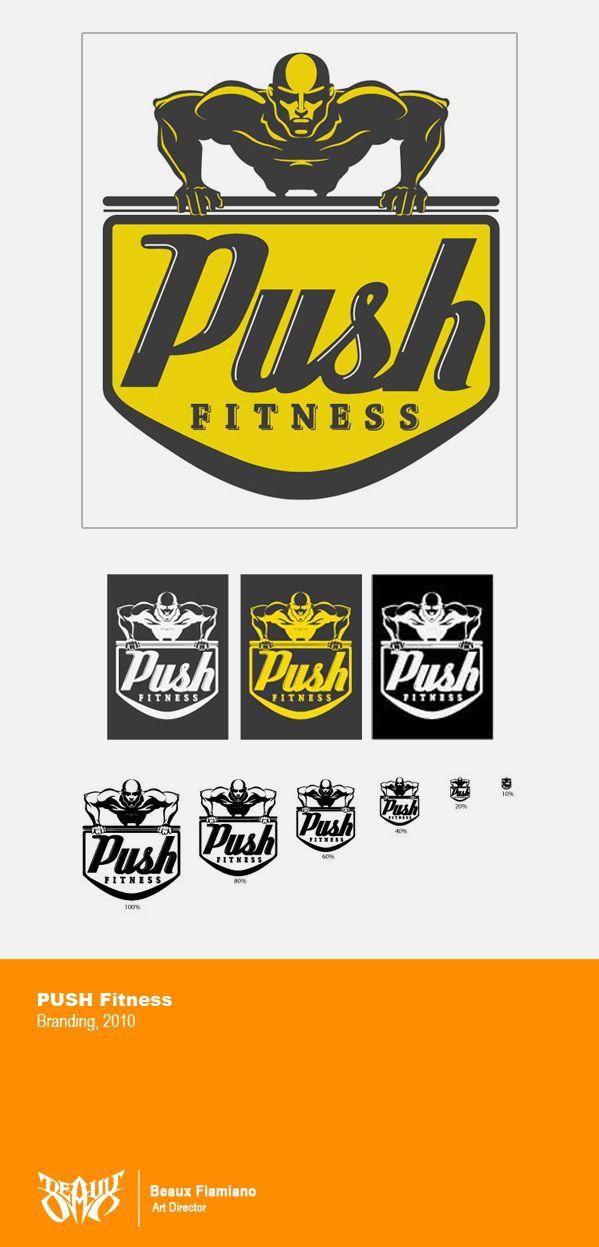 PUSH Fitness Logo by Beaux Flamiano, via Behance