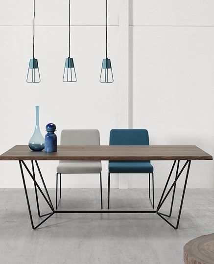 Rectangular steel and wood #table GEMMA by Altinox Minimal Design @altinox