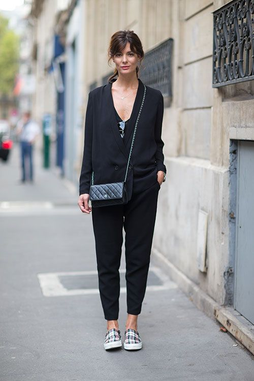 Chanel bag and Celine Sneakers // Spring Street Style Paris FW 2014