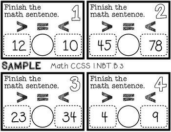 math worksheet : 22 best math images on pinterest  comparing numbers teaching  : Comparison Sentences Math