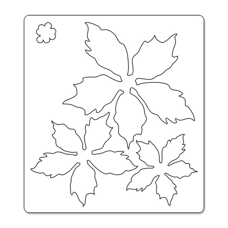 poinsettia designs stencils - Google Search