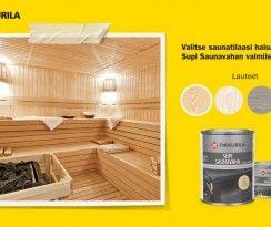 Sauna uudenveroiseksi väreillä. www.k-rauta.fi