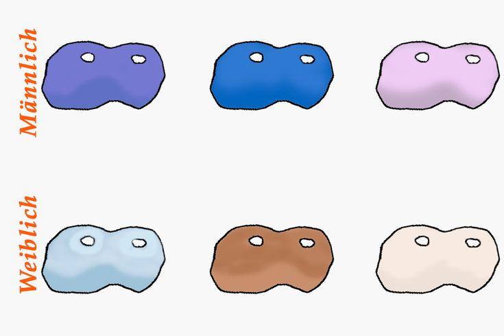 Farben der Wachshaut von Wellensittichen bei unterschiedlichen Alters