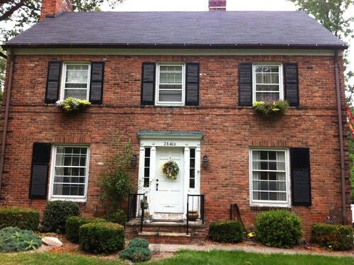 33 best colonial house images on pinterest architecture for Brick selection for houses