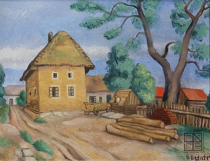 Štefan Bednár - Myjavský motív (1939)   Web umenia   SNG