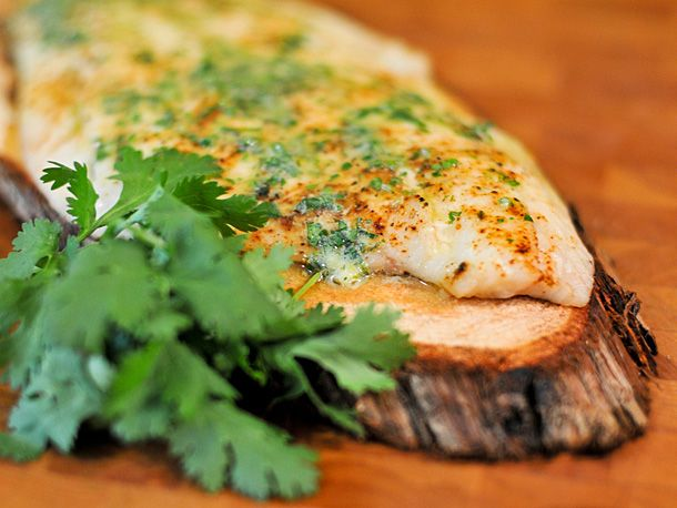 Grilling: Planked Whitefish with Cilantro-Lime Butter | Serious Eats