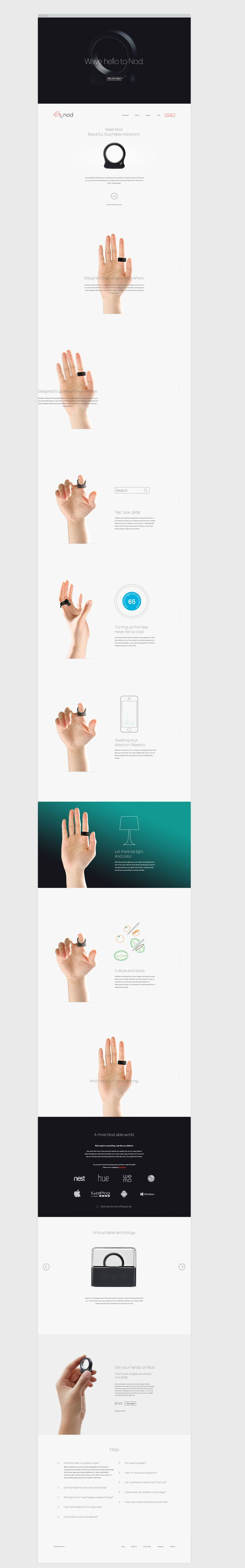Nod is #WearableTech that allows you to control digital devices with your hand, pretty cool!