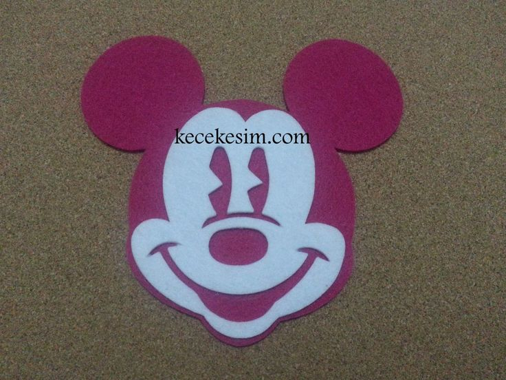 2 Renk İnce Keçe Mickey Mouse