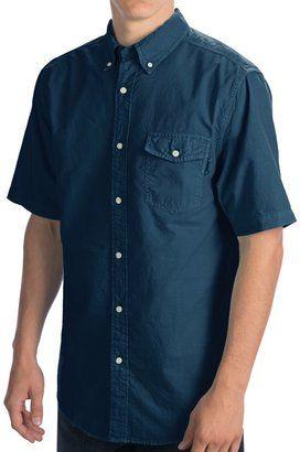 Woolrich Seaport Oxford Shirt - Short Sleeve (For Men) - Shop for women's Shirt - Ink (02) Shirt