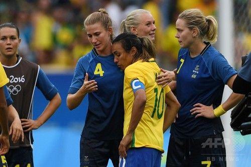ブラジルがPK戦でスウェーデンに惜敗、マルタの夢破れる サッカー女子