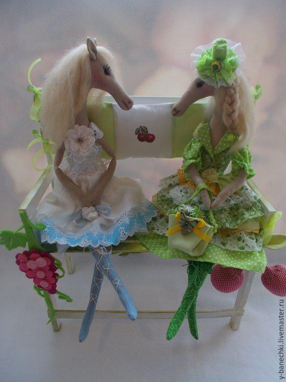 Купить Текстильные Лошадки - салатовый, текстильная игрушка, лошадь игрушка, ручная работа, текстильная лошадка
