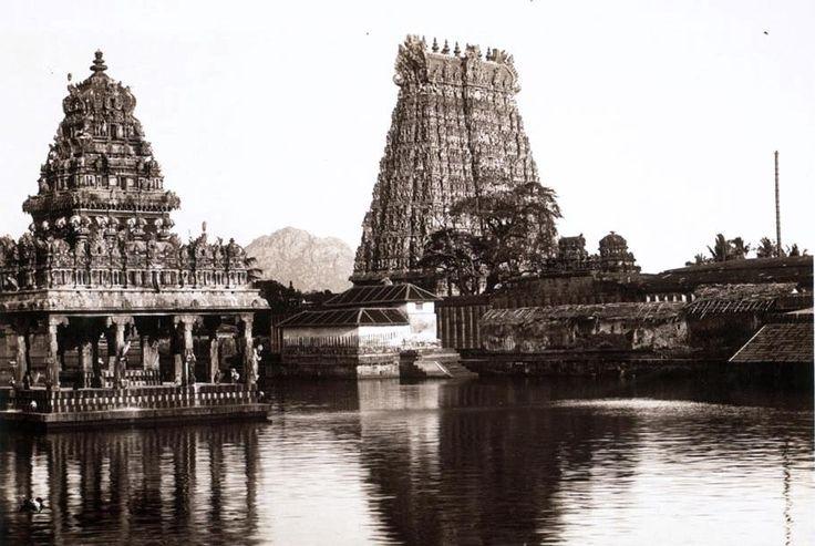 The Suchindram Temple and Pond in 1932 Madhurakkaran Karthikeyan