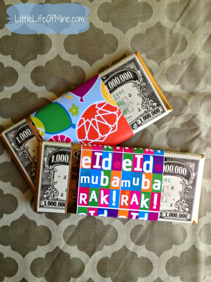Eid wrapped chocolate bars