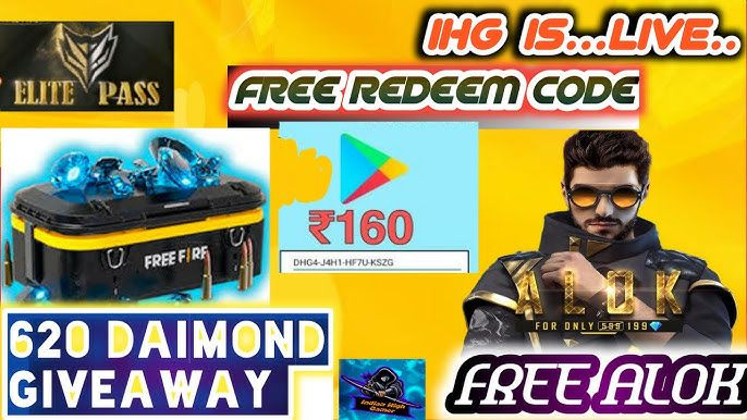 Alok And 1000 Daimond With Redeem Code Giveaway And Fun ...