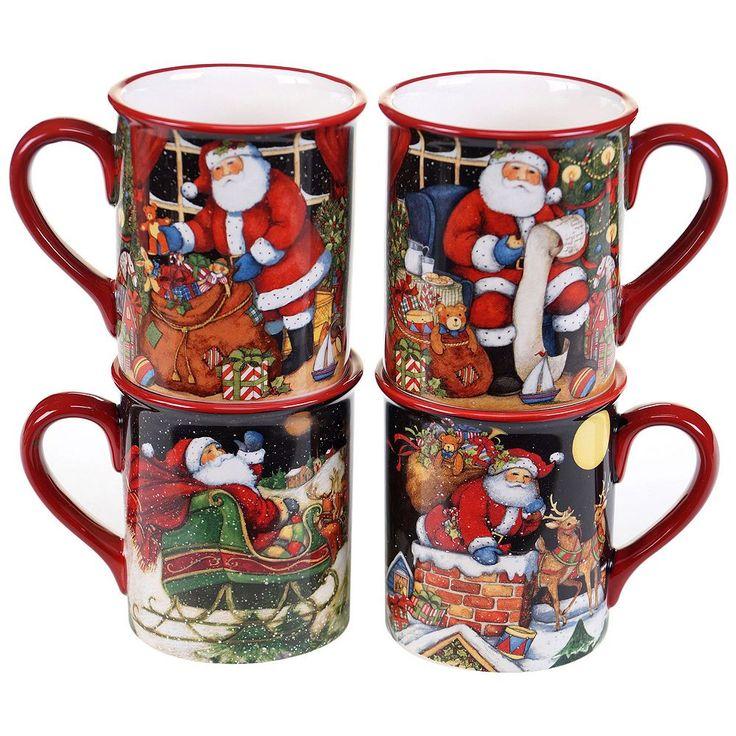 Certified International The Night Before Christmas 4-pc. Mug Set, Multicolor